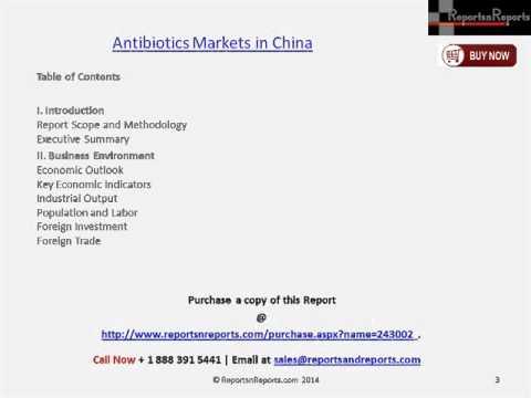 China Antibiotics Market Detailed Analysis & Strategies to 2018