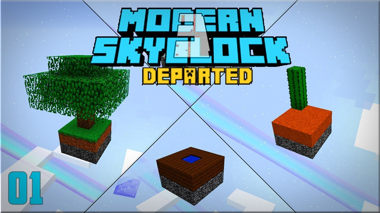 Modern Skyblock 3 Departed Punching Trees