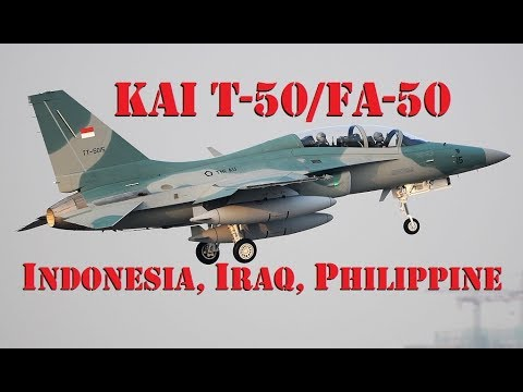 KAI T-50/FA-50 Golden Eagle of Indonesia, Iraq, and Philippine AF