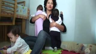 Um dia com uma mãe de quadrigêmeos