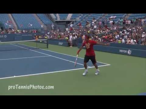 Federer V Fish 2012 USO Practice