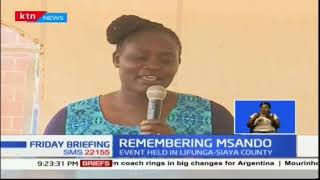 Chris Msando remembered in Siaya