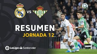 Resumen de Real Madrid vs Real Betis (0-0)