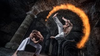 BTS - Pyrotechnics and Capoeira in an abbey in Belgium!