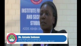 Exclusive Interview with Antonia Sodonon, Gender, Peace & Security Programme at  PSD, AUC