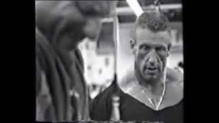 Dorian Yates - Chest, shoulders and triceps training (1996 Battle for Olympia)