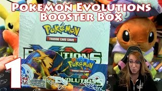 opening a pokemon xy evolutions booster box part 1