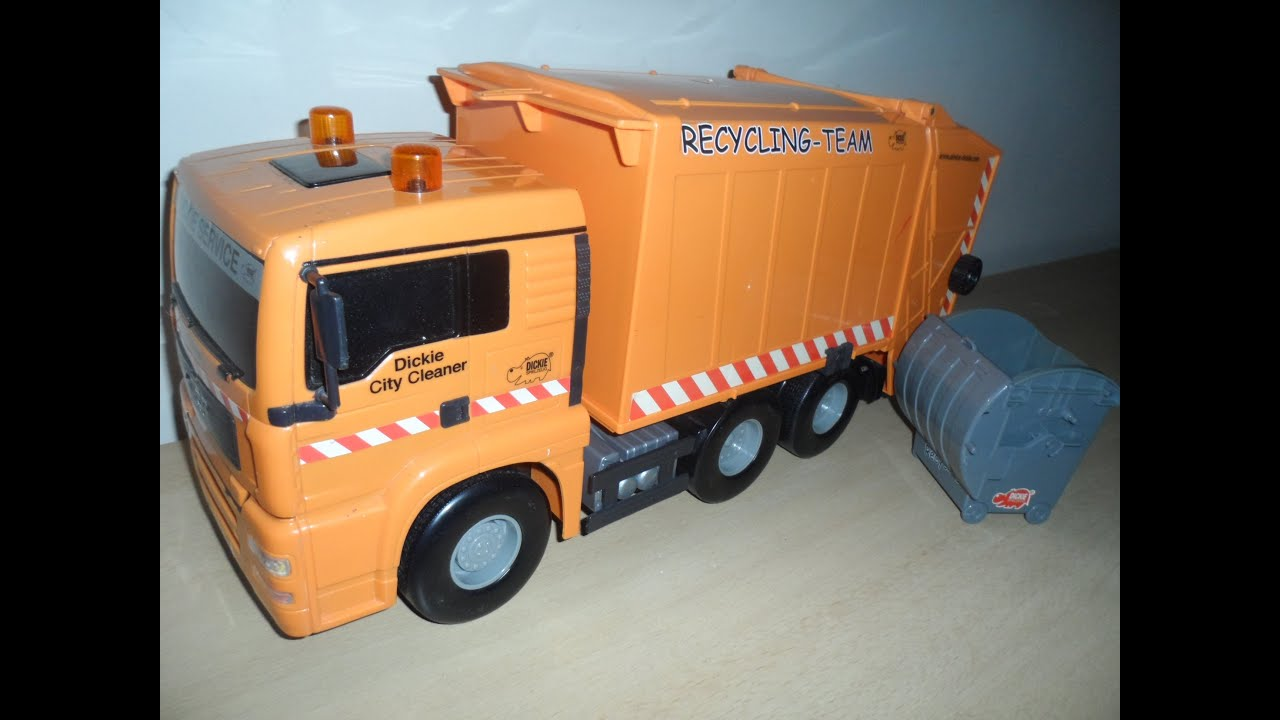 Dickie Toys Old Recycle Garbage Truck Youtube