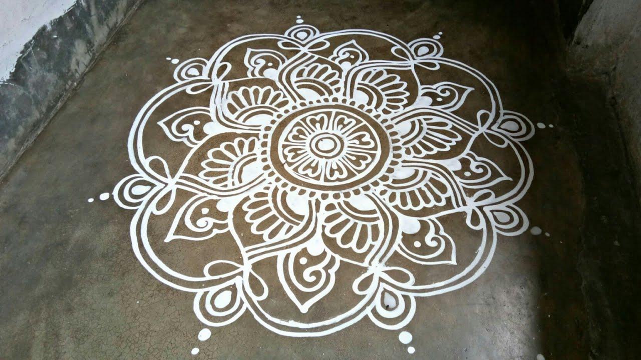 Beautiful Jhoti Chita Design For Margasira Masa Gurubara Laxmi Puja -  YouTube