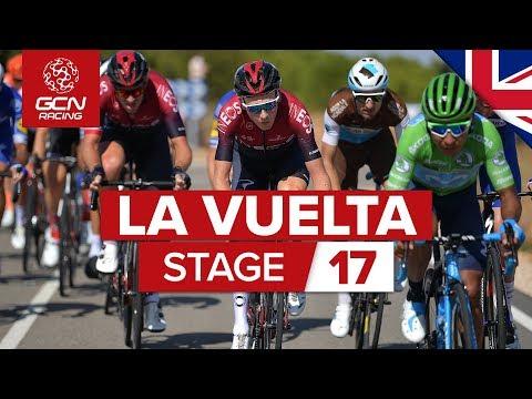 Vuelta A España 2019 Stage 17 Highlights: CROSSWIND CHAOS!!! | GCN Racing