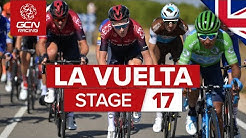 Vuelta a España 2019 Stage 17 Highlights: CROSSWIND CHAOS!!! | GCN Racing