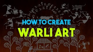 [FOR KIDS] How to Create Warli Artwork (Novice Level) - Art for Foster Care