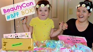beautycon bff subscription beauty box new makeup sunnies flower headbands giftcards and more