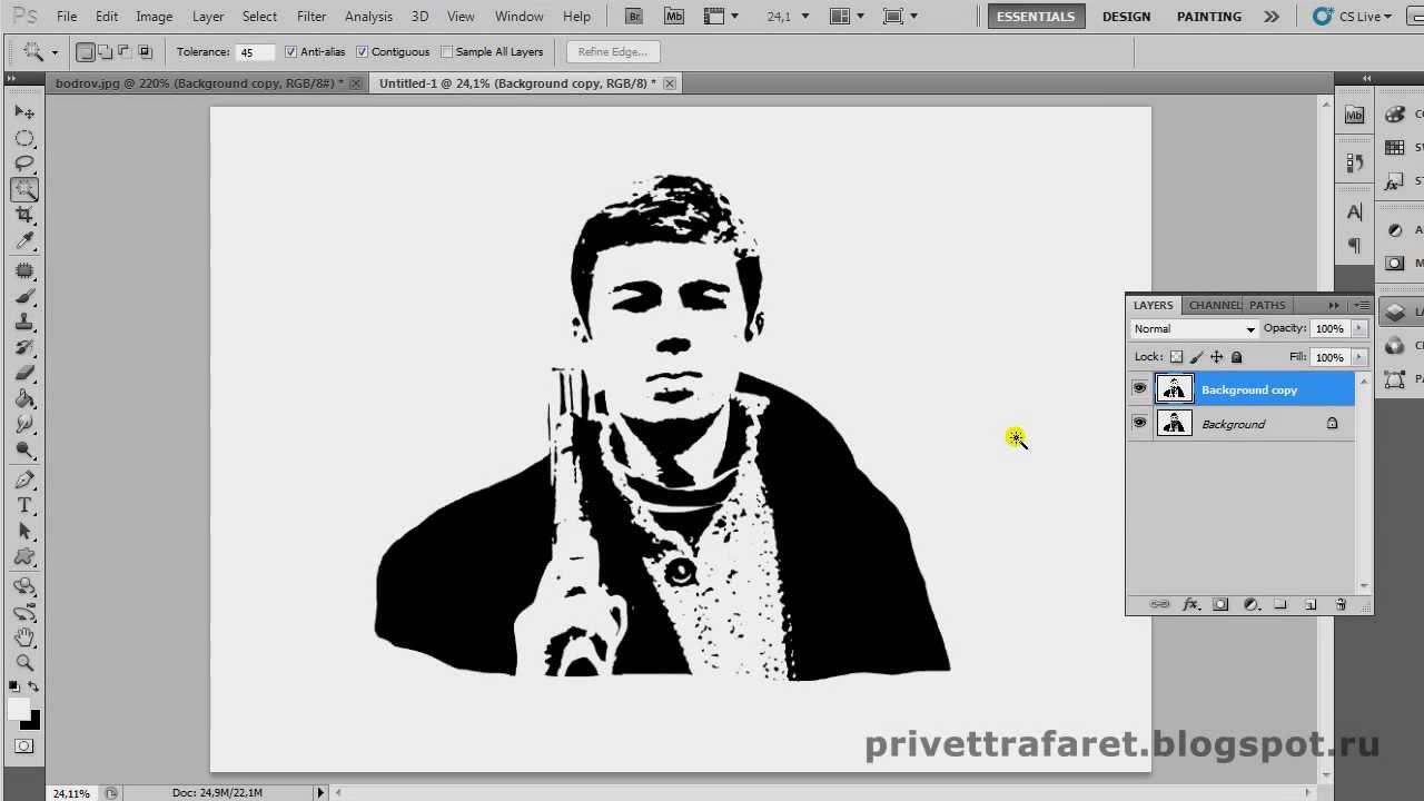 чёрно-белые картинки для трафарета