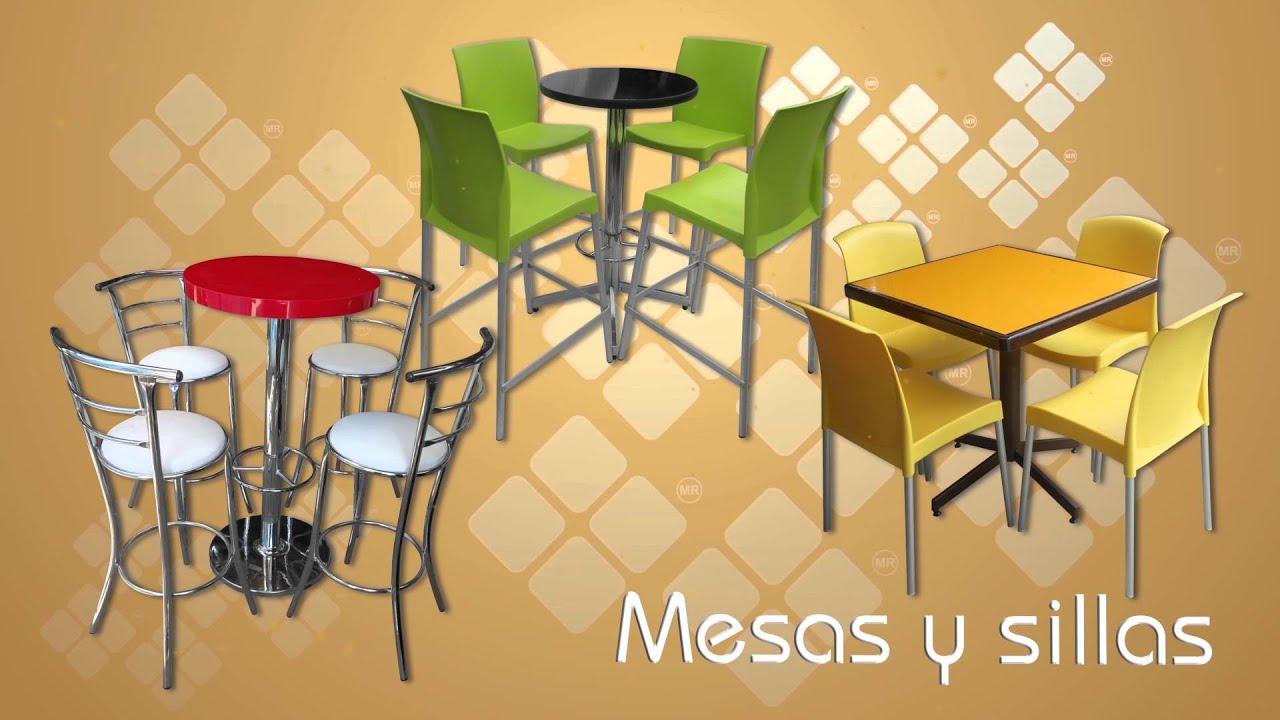 Sillas y Mesas para Restaurantes PLASTUV - YouTube