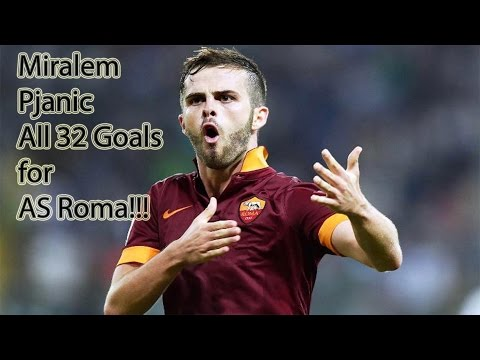 Miralem Pjanic | All 32 Goals For AS Roma