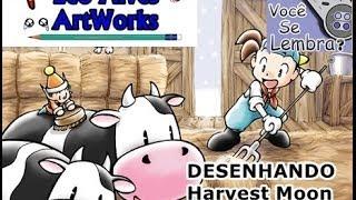 DESENHANDO #18  Harvest Moon para o Heitor