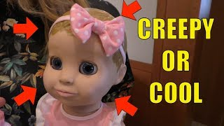 Luvabella Robotic Baby Doll Review - Tell Us, CREEPY or COOL???