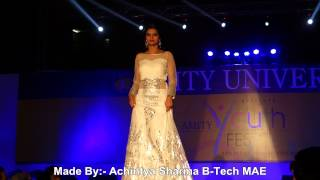 amity university amity youth fest 2015 fashion show main stage day 1