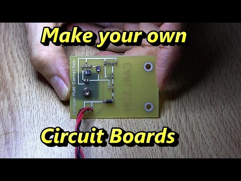 How to Make Double Sided Circuit Boards at Home