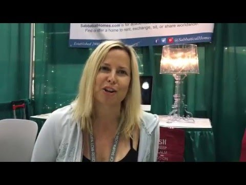 2016 AWP Stefanie Lipsey visits the SabbaticalHomes.com booth