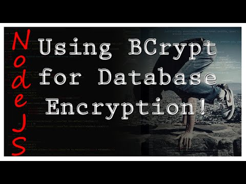 NodeJS - Using BCrypt for Database Encryption - Tutorial 9