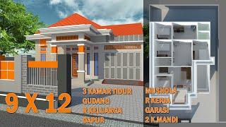 Desain Rumah Minimalis Paling Pas Di Kampung - Ukuran 9 X 12