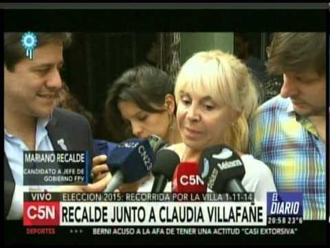C5N - ELECCION 2015: RECALDE JUNTO A CLAUDIA VILLAFAÑE
