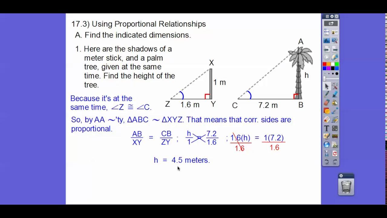 Using Proportional Relationships Module 17 3 Youtube