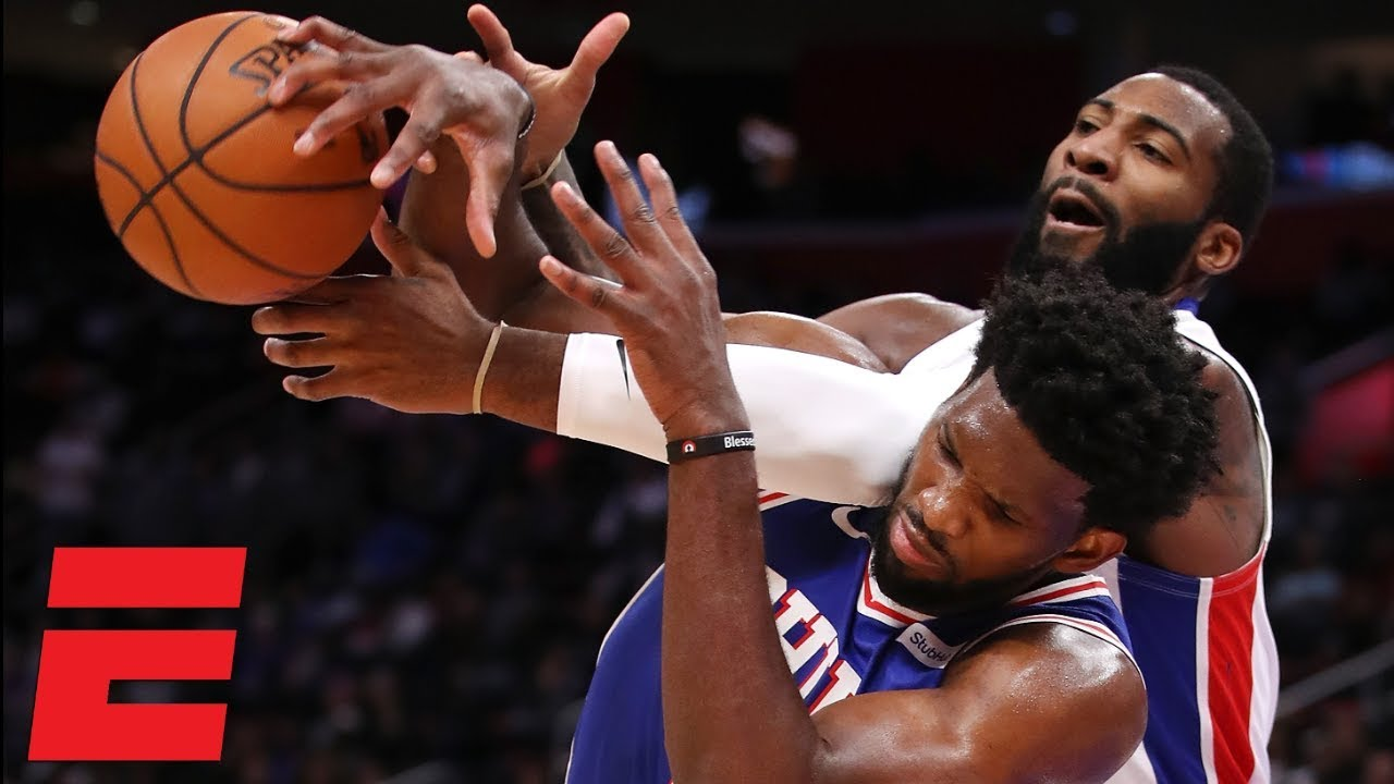 Joel Embiid flops, Andre Drummond ejected from Pistons vs. 76ers game | NBA Highlights
