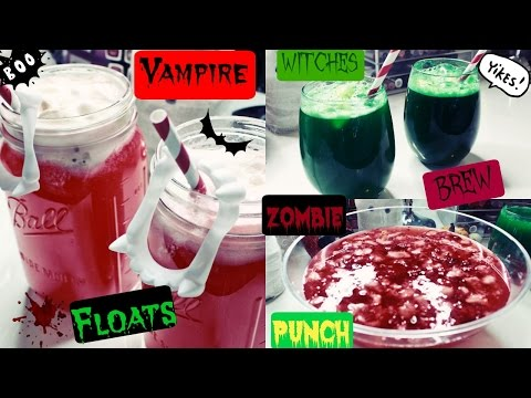 How To Make DIY HALLOWEEN PARTY DRINKS !