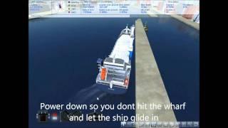 Ship Sim 2008-Big ship docking tutorial