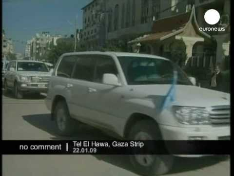 Holmes continues tour of Gaza