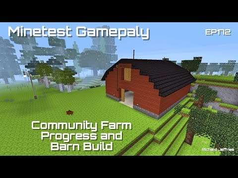 Minetest Gameplay Episode 172 - Roads and Barn construction