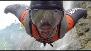 Wingsuit Flight Through a Waterfall in Lauterbrunnen - Planet Douggs - Ep.1