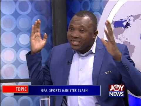 GFA, Sports Minister Clash - PM Express on Joy News(30-8-16)