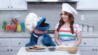 Sesame street.     Rosanna pansino and cookie make snacks