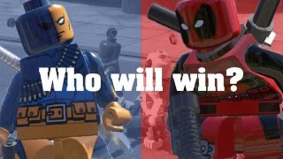 "Deadpool VS Deathstroke BATTLE ( LEGO MARVEL SUPERHEROES ) ""LEGO Marvel VS DC Super Heroes"""