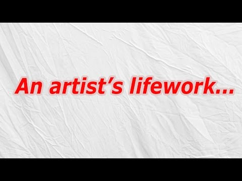 An artist's lifework (CodyCross Crossword Answer)