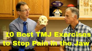 10 Best TMJ Exercises to Stop Pain in Your Jaw. (Temporomandibular Joint Disorder)
