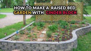 Cinder Block Raised Beds