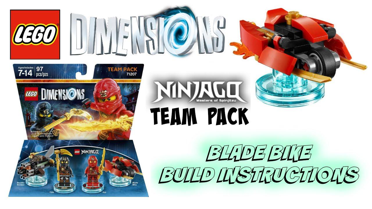 Lego dimensions ninjago team pack 71207 blade bike build - Lego ninjago team ...