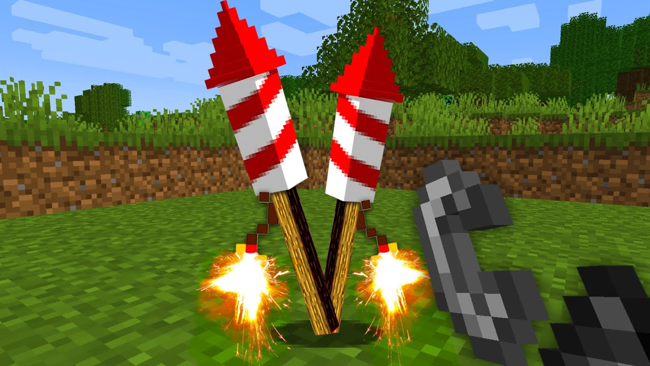 Download Realistic Fireworks in Minecraft