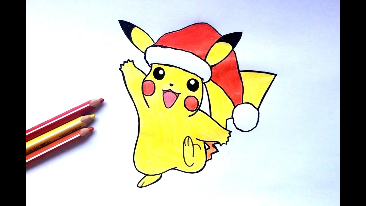 how to draw pikachu christmas pok mon youtube. Black Bedroom Furniture Sets. Home Design Ideas