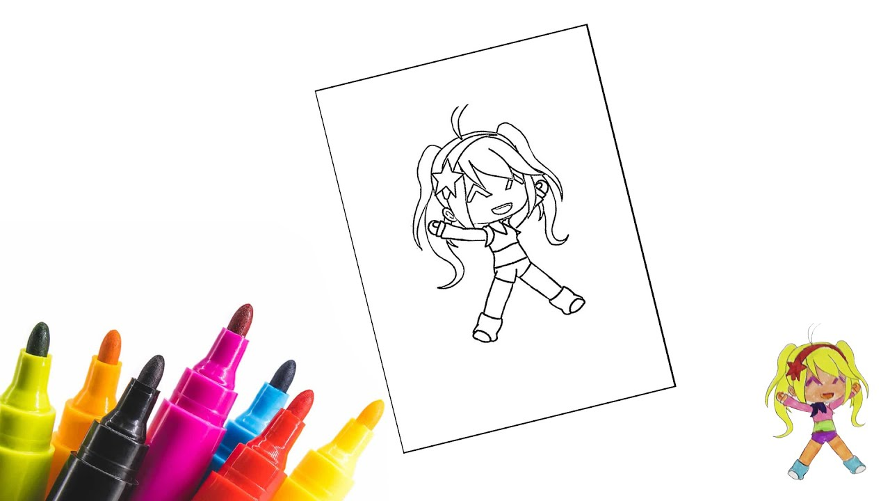 Раскраска Гача Лайф / Coloring Gacha Life - YouTube