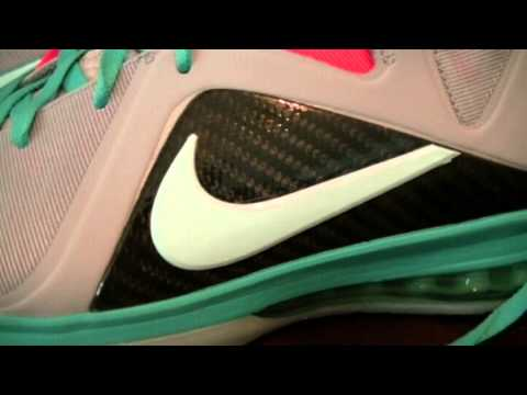 603b8cbbe1a Viphiphop Lebron 9 south beach authentic vs replica - YouTube