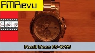 Fossil Dean FS-4795 | Men's Fashion Watch Review