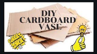 DIY | CARDBOARD VASE | How to make vase - DIY Vase - DIY Cardboard Vase | FnF Creations