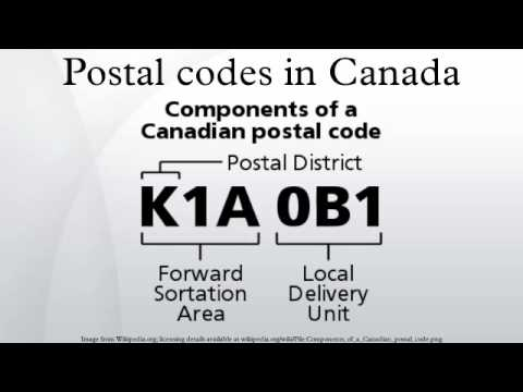 Postal codes in canada youtube for Code postal culoz