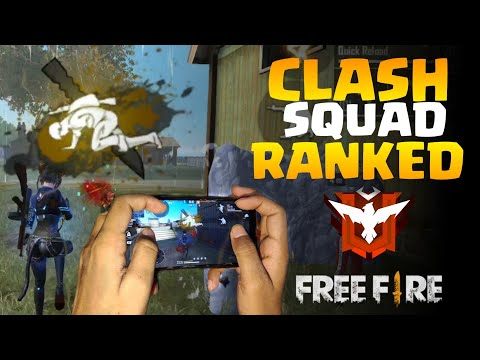 CLASH SQUAD RANKED 4 FINGER CLAW GAMEPLAY | | FF CLASH SQUAD HEROIC PUSHUP